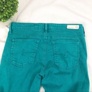 Ag Adriano Goldschmied Jeans - AG the Legging Super Skinny Ankle teal jeans